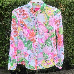 Lilly Pulitzer Long Sleeve Shirt Size XS